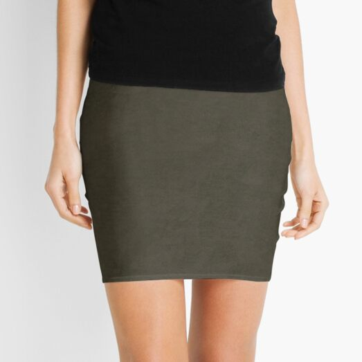 simple coco brown watercolor suede mountain pattern Mini Skirt