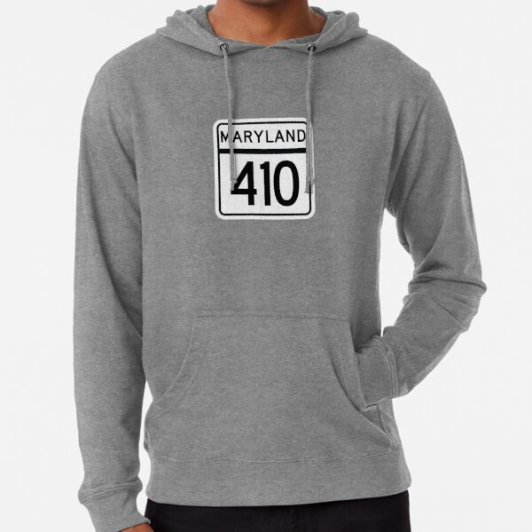 Maryland State Route 410 (Area Code 410) Lightweight Hoodie