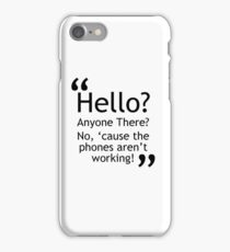 Torchwood - Phones Aren't Working iPhone Case/Skin