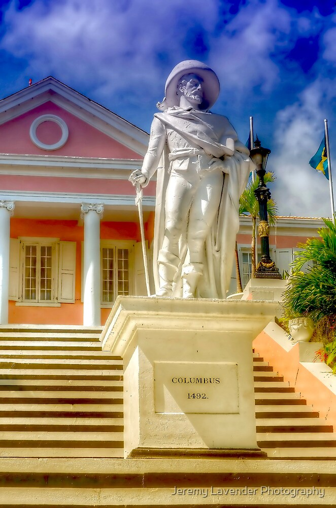 Christopher Columbus at Government House in Nassau, The Bahamas by Jeremy Lavender Photography