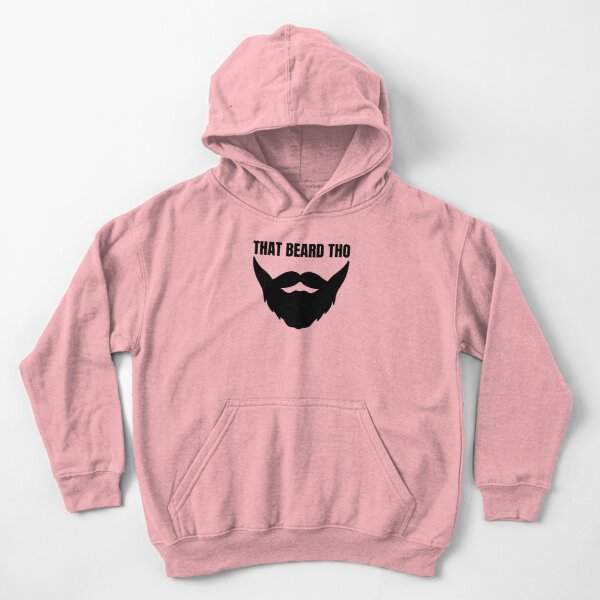 That Beard Tho - Funny Beard Graphic  Kids Pullover Hoodie