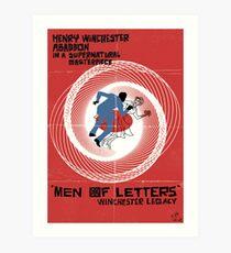Men of Letters Art Print