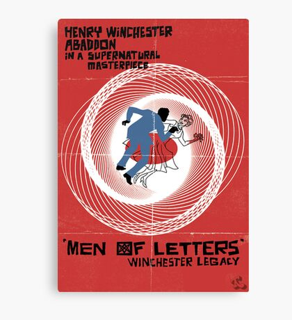 Men of Letters Canvas Print