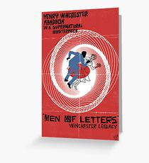 Men of Letters Greeting Card