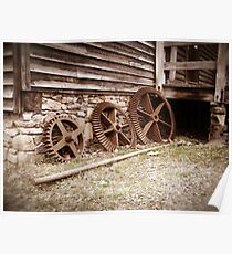 Gears at West Point on The Eno in Durham, NC Poster