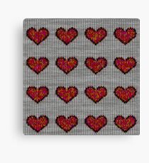 knitted hearts Canvas Print