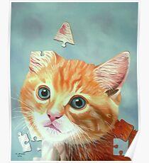 Cat Puzzle Poster