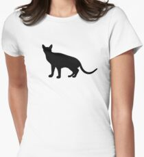 Abyssinian Cat Womens Fitted T-Shirt