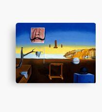 Dali's Mustache - Magritte's Bowler Canvas Print