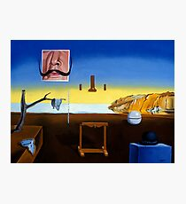 Dali's Mustache - Magritte's Bowler Photographic Print