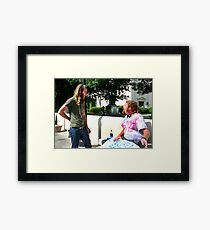 Political Discussion  Framed Print