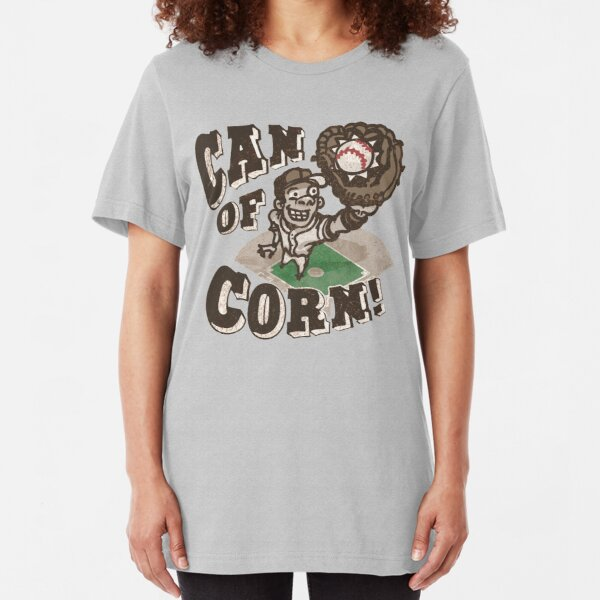 Can of Corn Baseball Player Slim Fit T-Shirt