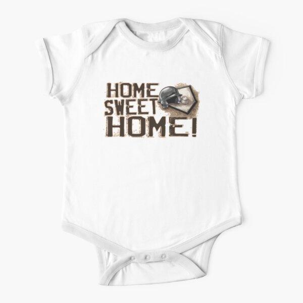 Home Sweet Home Baseball Short Sleeve Baby One-Piece