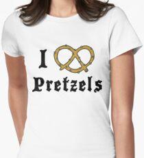 I Love Pretzels Women's Fitted T-Shirt
