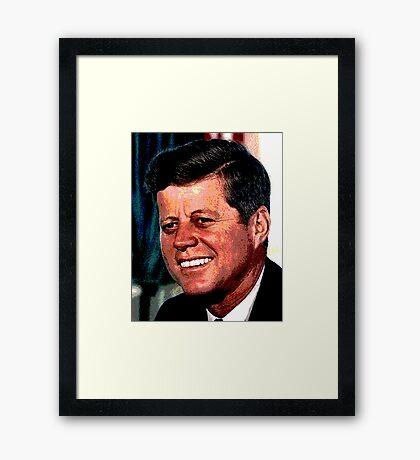 All The President's Heads #2 - JFK Framed Print