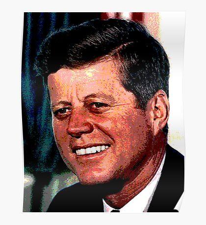 All The President's Heads #2 - JFK Poster