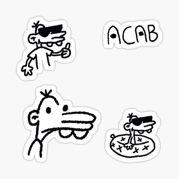 manny heffley - Eat the rich Manny - pattern  Sticker