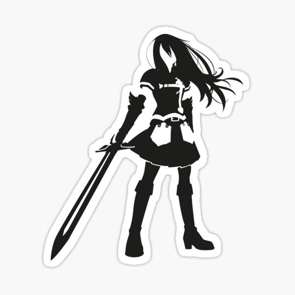 erza scarlet stickers redbubble
