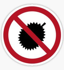 No Durians I, Sign, Singapore Sticker