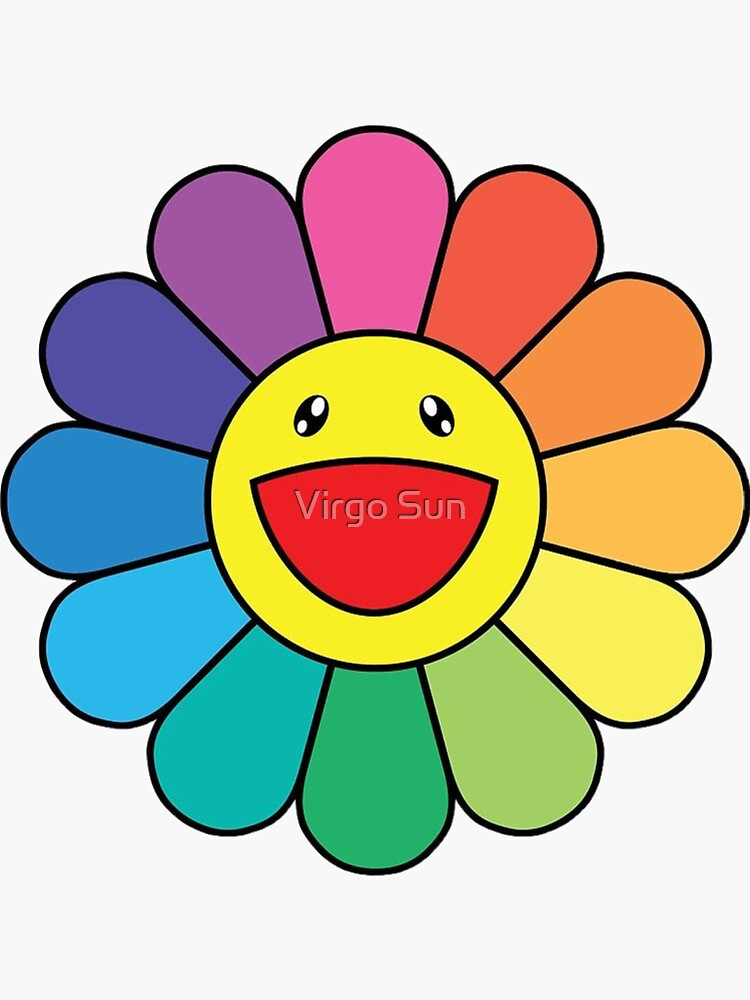 Rainbow smiling flower by ivallejo
