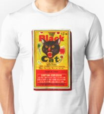 Camiseta unisex Black Cat Fireworks camiseta