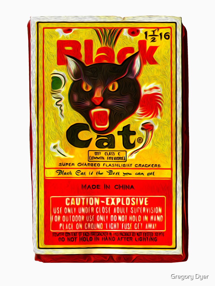 Black Cat Fireworks T-Shirt | Unisex T-Shirt