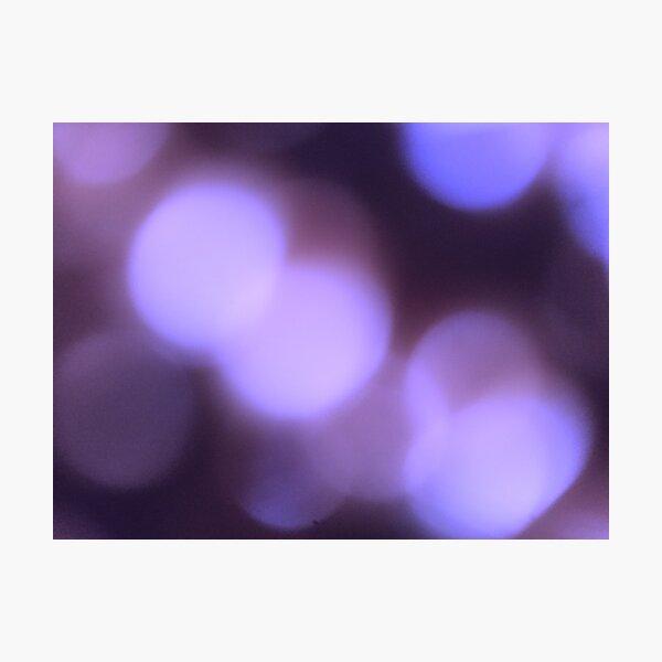 Blurred Purple Lights Photographic Print