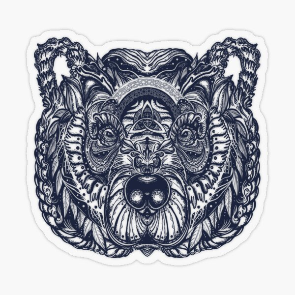 Celtic bear tattoo Transparent Sticker