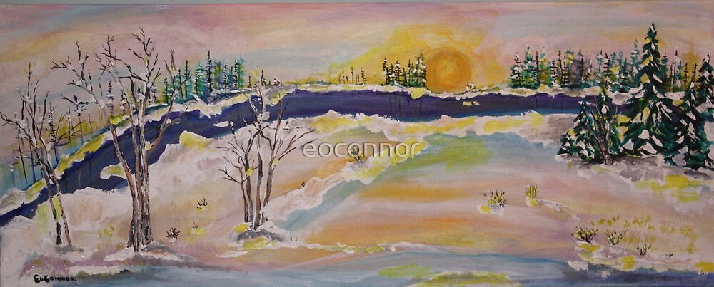 SPRING SKY OPEN RIVER by eoconnor
