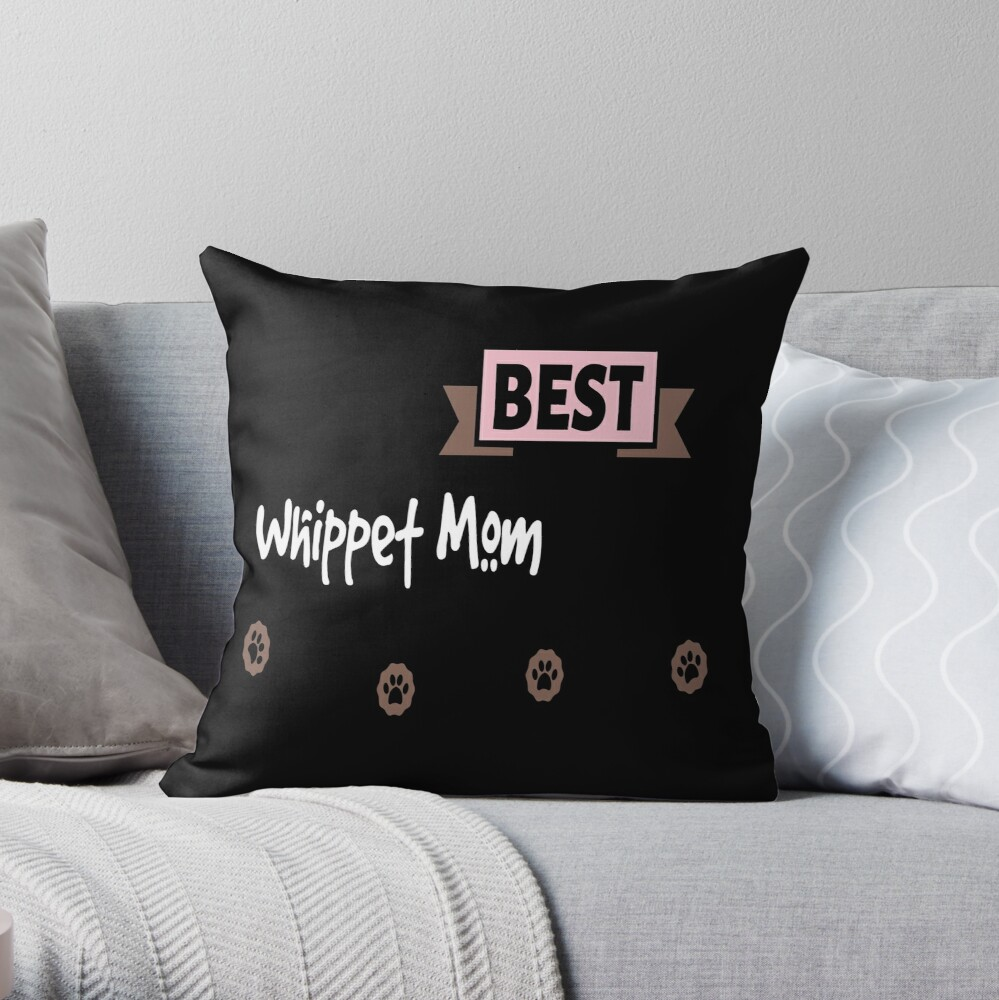 Whippet Mom Throw Pillow