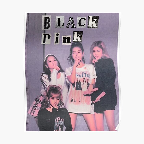 black pink aesthetic Poster