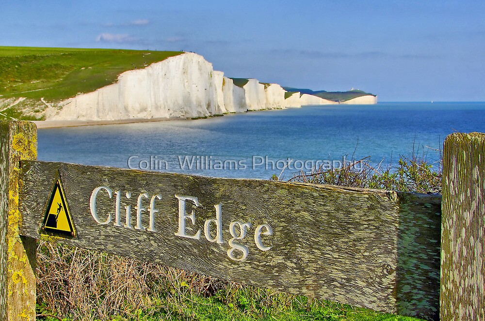 Clff Edge - Seven Sisters - HDR by Colin  Williams Photography