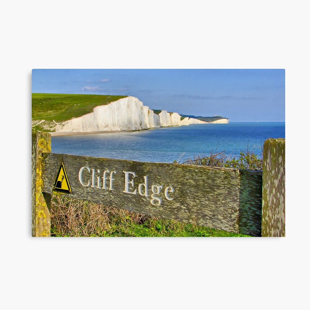 Clff Edge - Seven Sisters - HDR Canvas Print