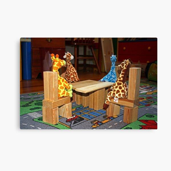Giraffe Picnic Canvas Print