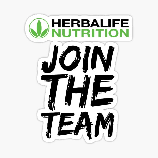 Únase al equipo de nutrición de Herbalife Pegatina