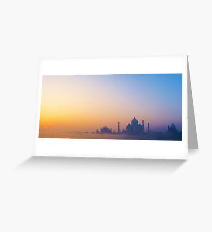 Sunrise over the Taj Mahal Greeting Card