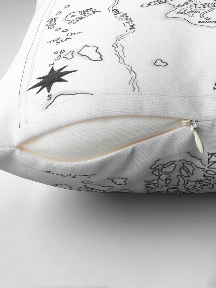 Alternate view of The Map of Nereid Throw Pillow
