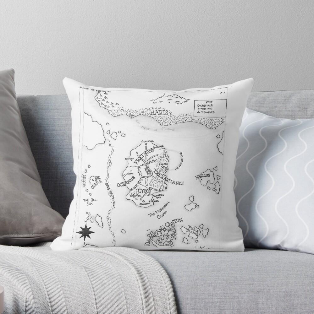 The Map of Nereid Throw Pillow