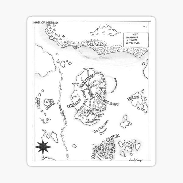 The Map of Nereid Sticker