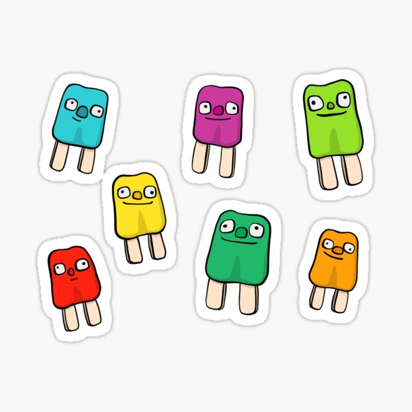 Popscicle Friends Sticker