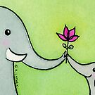 Little Elephant Says Thank-you by zoel