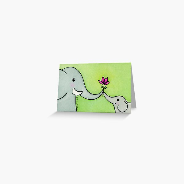 Little Elephant Says Thank-you Greeting Card