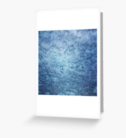 Frozen windscreen Greeting Card