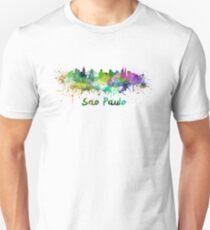 Sao Paulo skyline in watercolor Unisex T-Shirt