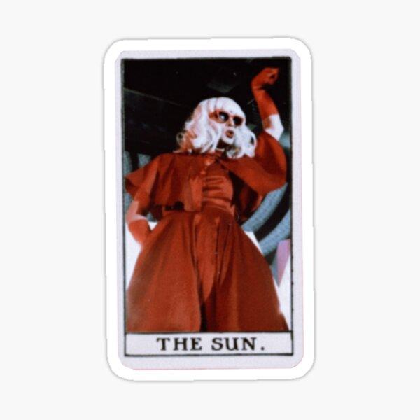 Katya Zamolodchikova Sun Tarot Card Glossy Sticker