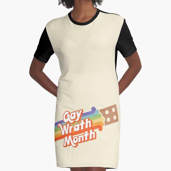 Gay Wrath Month (Pride Brick) Graphic T-Shirt Dress