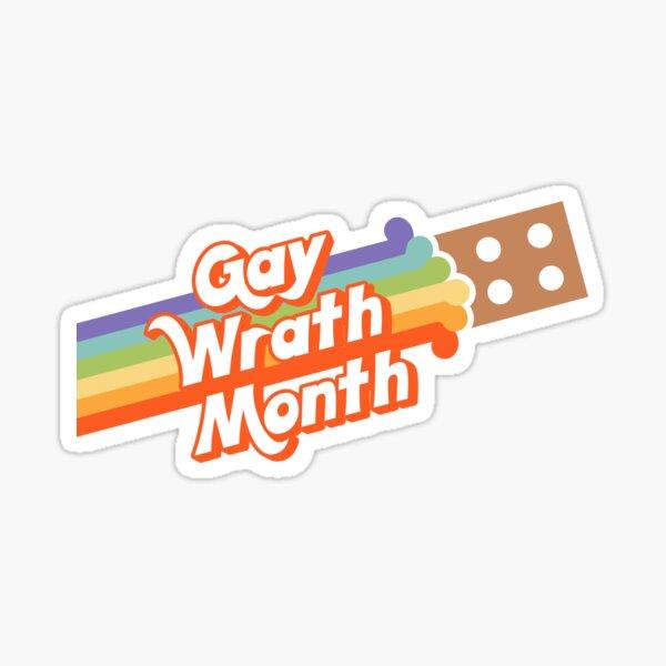 Gay Wrath Month (Pride Brick) Sticker