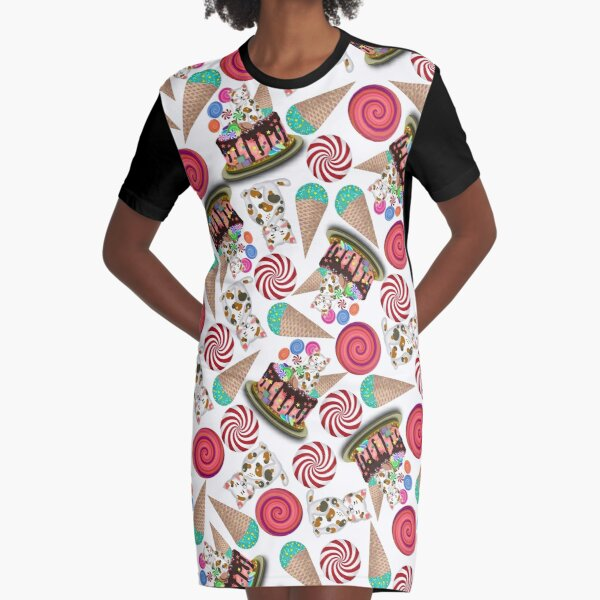 Birthday cake - Happy birthday for the loved one Graphic T-Shirt Dress