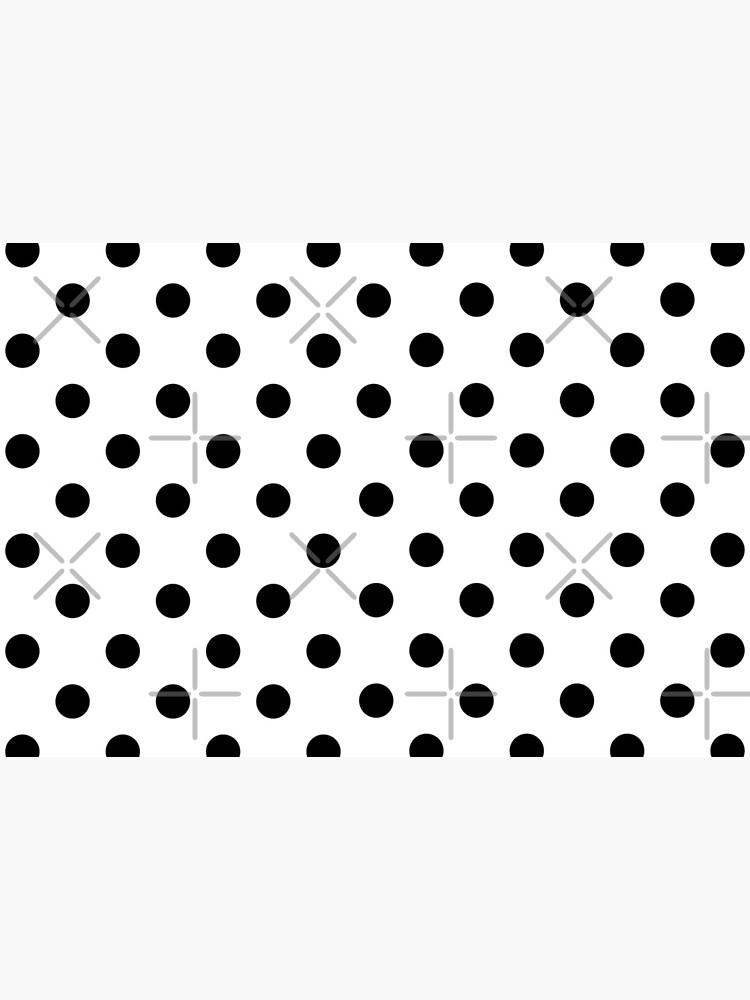 Black on White Polka Dot by bcv122