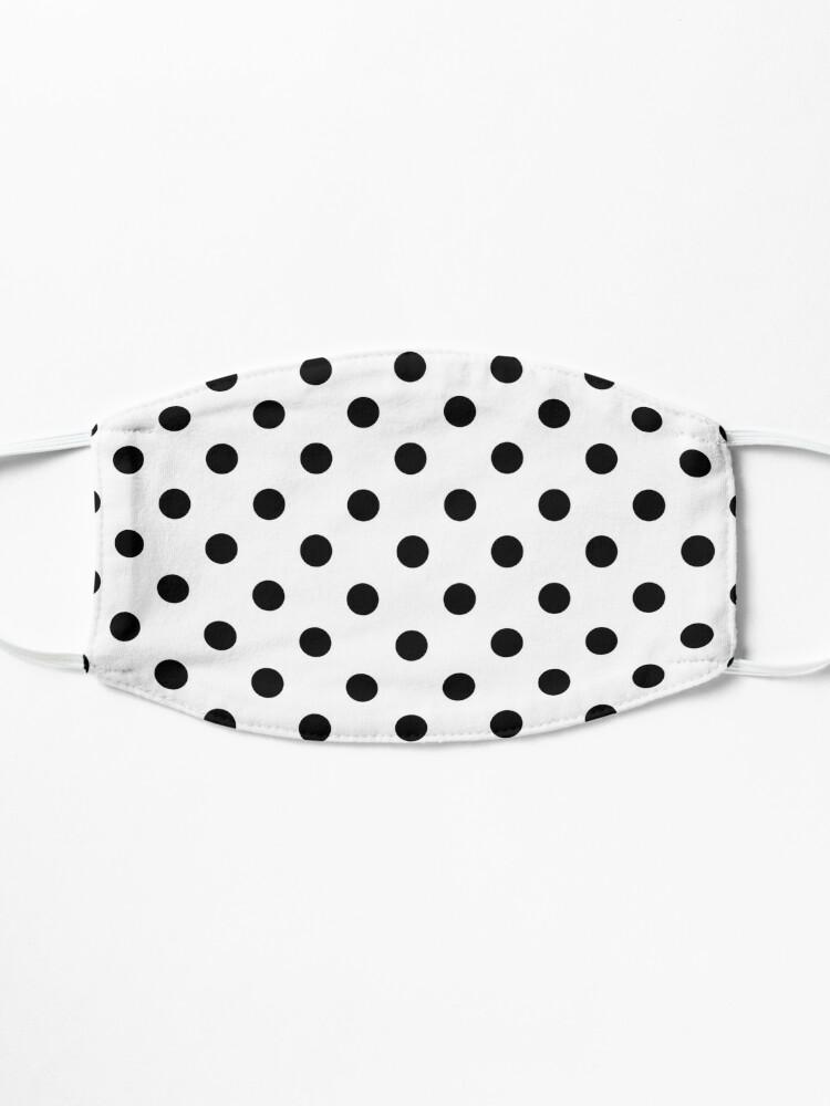 Alternate view of Black on White Polka Dot Mask